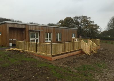 Farm Cafe Decking In Milton Keynes – Anti Slip Softwood