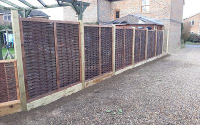 Willow Panel Fencing In Thame