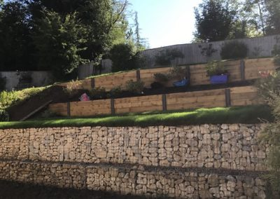 Gabion Construction For Garden Landslide In Bucks