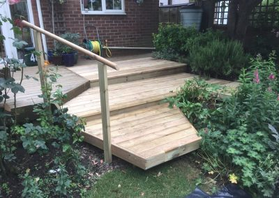 Anti-Slip Softwood Decking In Oxford