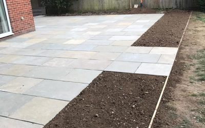 New House Patio In Oxfordshire