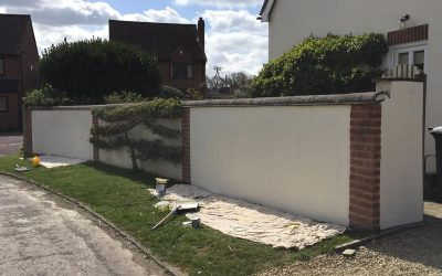 Wall Rendered In Thame