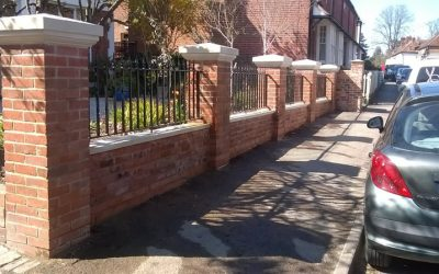 Brick Wall With Railings In Beaconsfield