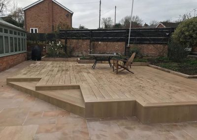 Millboard Decking In Bucks – Enhanced Grain Golden Oak