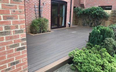 Trek Decking In Worminghall. Centre – Tiki Torch. Border – Spiced Rum