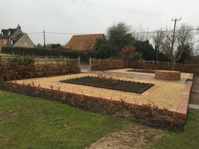 Brick walled garden in Oxford