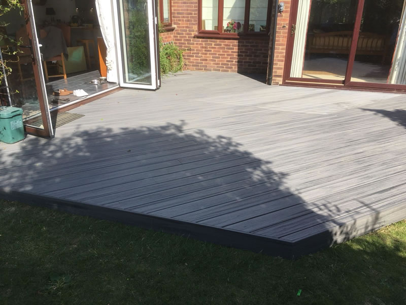 Trek Composite decking in Long Crendon