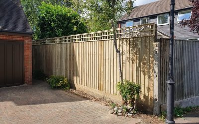 Close Board Fence In Long Crendon