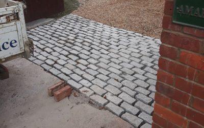 Granite Rumble Strip Driveway In Buckinghamshire