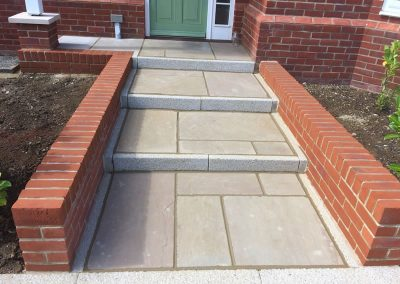 Wall For Stepped Paving To Door