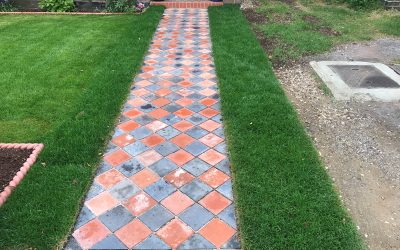 Reclaimed Quarry Tile Path In Oxford