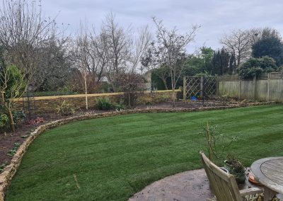 Stonewall Build & Returfing Of Lawn In Oxford