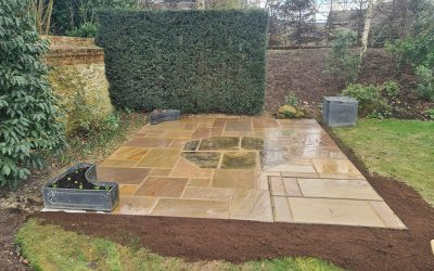 Patio For House In Oxfordshire
