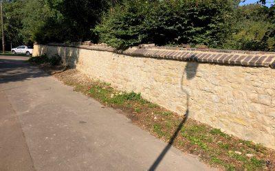 Restoring Stone Wall – Thame